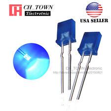 100pcs 2x5x7mm Diffused Blue Light Rectangle Rectangular Square LED Diodes USA