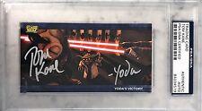 Tom Kane Yoda The Clone Wars Star Wars Signed Trading Card #5 PSA/DNA SLAB