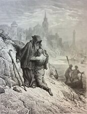 Gustave Doré Anciens Marins 1876 XIX ème Marine Marin A Hermit of the Rocks