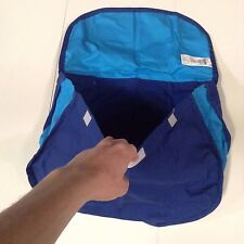 FLEXA STORAGE BAG, BLUE,  VELCROS TO BED - NEW, FREE SHIPPING #738007 GREAT DEAL