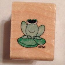 NEW Mini Frog Precious Moments Lilly Pad Rubber Stamp Stampendous UAA006