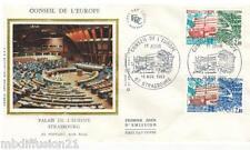 1983**ENVELOPPE SOIE**FDC 1°JOUR!!!**CONSEIL DE L'EUROPE**TIMBRE Y/T 77-78