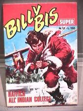 SUPER BILLY BIS Editrice Universo 1972 N 12 Fumetti Narrativa per Ragazzi di e