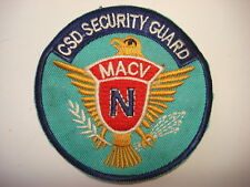War NAVY Contingent, MACV Combined Security Det. Patch