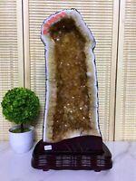 TOP 33.0LB Natural Amethyst geode quartz cluster crystal specimen healing+stand