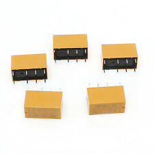 5Pcs Mini HK19F-DC12V-SHG 1A 125V AC 2A 30V DC Power Relay 8Pin Coil DPDT