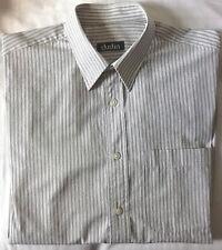 Camisa de caballero Dustin de manga larga - Blanca con rayas negras - Talla 39