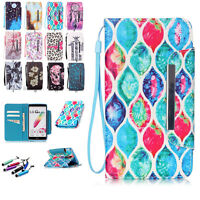 New Leather Magnetic Flip Cover Stand Wallet Case Cover For LG Smart Cell Phones