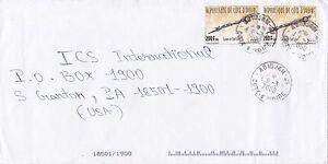 BD826) Ivory Coast 1993 nice cover to USA