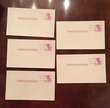 USPS 4 CENT LINCOLN POST CARDS (LOT OF 5)