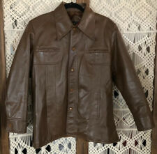 Vintage Sears The Men's Store Outerwear Carmel Brown Jacket/Coat Size M 1970s