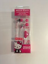 NIB Hello Kitty Earbud Headphones With In-line Control $19.99 + Free Shipping