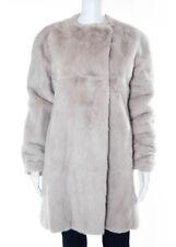 AUTH BRIONI Pink Mink Fur Collarless Double Breast Coat Sz IT 42 893500 $37280