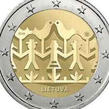 Lithuania 2 Euro Coin 2018 Commemorative Song & Dance Festival UNC from Roll New