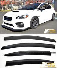 EOS Visors JDM CLIP-ON Side Window Guard Deflectors For 15-Up Subaru WRX & STi
