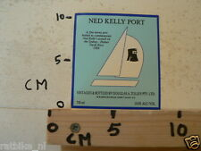 STICKER,DECAL NED KELLY PORT  THE SYDNY - HOBART YACHT RACE 1986