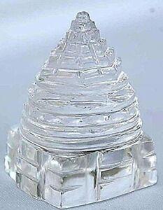 132 grams Shri Yantra Shree Yantra Natural Crystal Pure Sphatik Spiritual yantra