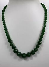 Natural Dark green jade Beaded necklace