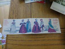 Women's Costume Folded Booklet