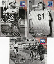2019 Topps Series 1 2 UPDATE 150 Years Insert YOU PICK Greatest Players etc