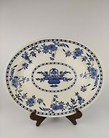 ANTIQUE T.G.G. CO LTD (EARLY T.G.GREEN) DELFT BLUE & WHITE MEAT PLATTER 1880S