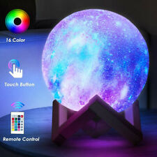 toyuugo 15cm LED Moon Lamp 3D Print Remote Control Portable Night Light Touch