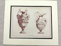 1859 Print Ancient Greek Roman Decorative Jug Ornate Antique Original