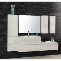 Composizione sospesa Unika 185 mobile arredo bagno lavabo specchio e miscelatore