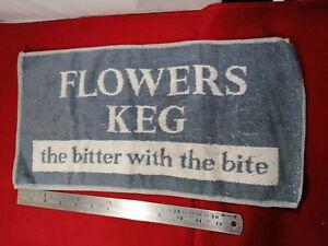 Vintage Flowers Keg Bar Towel 1960/70s ManCave home bar