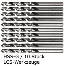 10 x HSS-G Spiralbohrer 1,0-6,1 mm - 0,1mm Metallbohrer HSSG Bohrer geschliffen