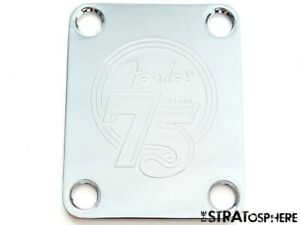 Fender 75th Anniversary Stratocaster Strat Chrome NECK PLATE, 60s Original.
