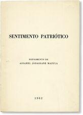Mazula SENTIMENTO PATRIOTICO: DEPOIMENTO Nampula, Mozambique: 1962 VG condition