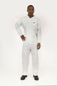 EnviroGaurd 4017 (Tyvek Like) Body Filter 95+ 4XL Collared Bunny Suit Coverall