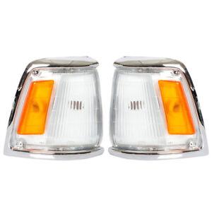 Corner Lights Turn Signal Lamps Fit Toyota Hilux MK3 Pickup LN RN YN 1989-1995