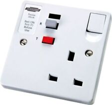 Tripfast TFP02WL RCD Protected Latching Single Switched Socket Circuit Breaker
