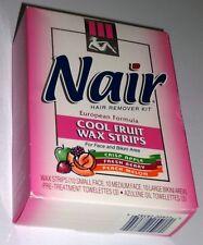 Nair Cool Fruit Wax Strips for Face & Bikini 30 Ct European Formula Hair Removal