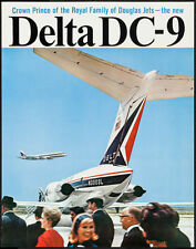 DELTA AIRLINES DC 9 Vintage 1965 Travel poster JET SET 20x28 NM