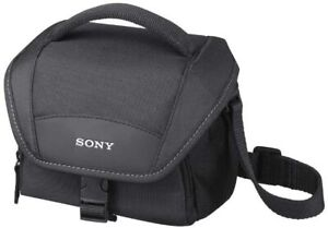 Sony LCSU11 Soft Carrying Case for Camcorders, Alpha, NEX Cameras - Black