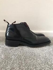 JEFFERY WEST Boots Size 7 Black Leather Lace Up Smart Ankle Boots EU 41