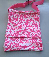 School Books Carry Bag Pink & White Shoulder  Strap Waterproof