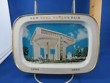 New York  World's Fair 1964 1965 Tin Souvenir Tray
