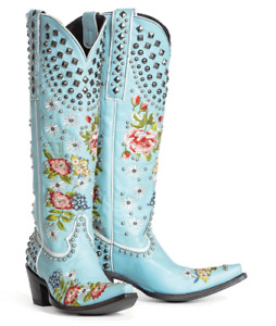 Womens Studded Embroidery Mid Heel Knight Boots Runway Travel Cowboy Shoes Plus