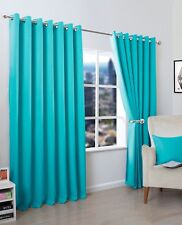 Thermal Blackout Luxurious Curtains Pair Ready Made Eyelet Top / Ring Top By NZ