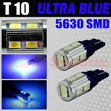 2X T10 658 579 High Power LED Blue Interior Instrument Dash LED Lamp Light Bulbs