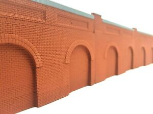 5 X Detailed Model Railway Retaining Wall With Aches For HO / OO New
