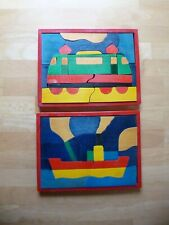 2 Holzpuzzle aus den 70gern Vintage