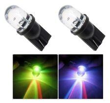 2 LUCI DI POSIZIONE LAMPADA LED RGB MULTICOLORE  T10 lampadina auto 6000K  W5W