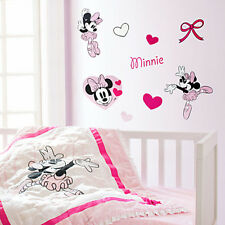 Minnie Mouse Wall Decals Disney Store Minnie Mouse Wall Stickers 52 pieces  NEW