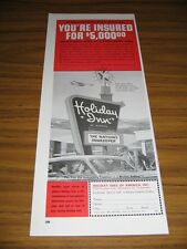 1963 Print Ad Holiday Inn You're Insured for $5,000 When You Stay