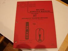 Onan AT Switch 30 Through 400 Amperes Service Manual 962-0500 Spec A-C